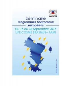 Séminaire des programmes horizontaux européens