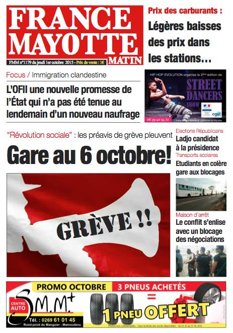 France Mayotte Jeudi 1er octobre 2015