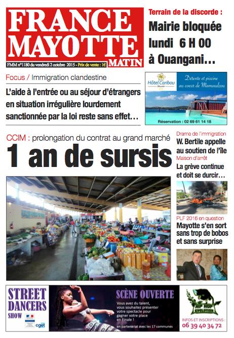 France Mayotte Vendredi 2 octobre 2015