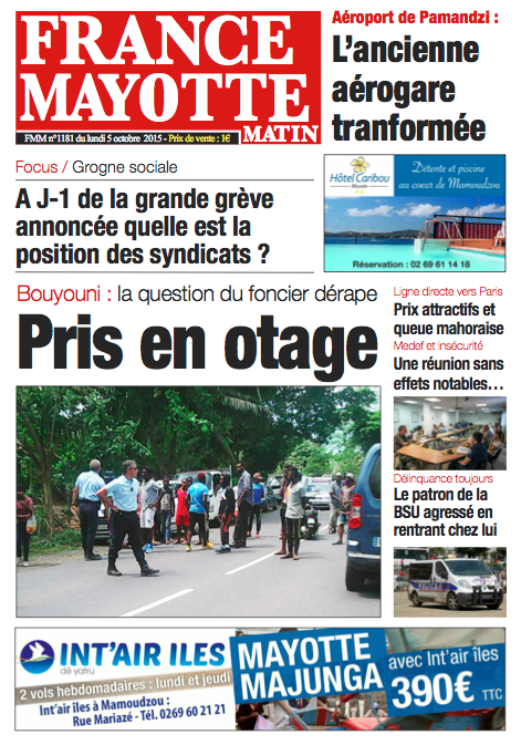 France Mayotte Lundi 5 octobre 2015
