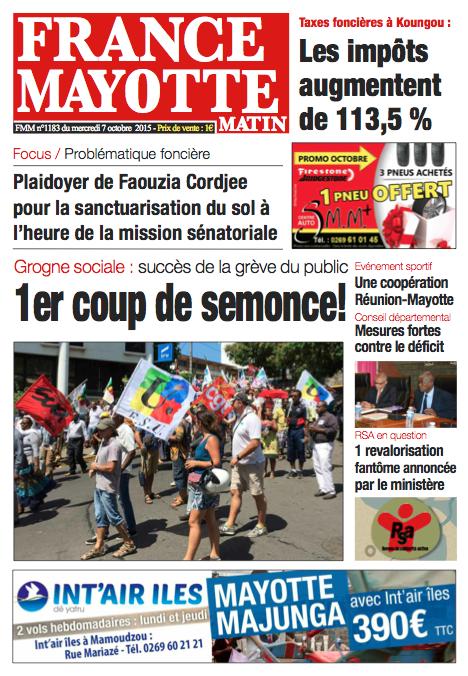 France Mayotte Mercredi 7 octobre 2015