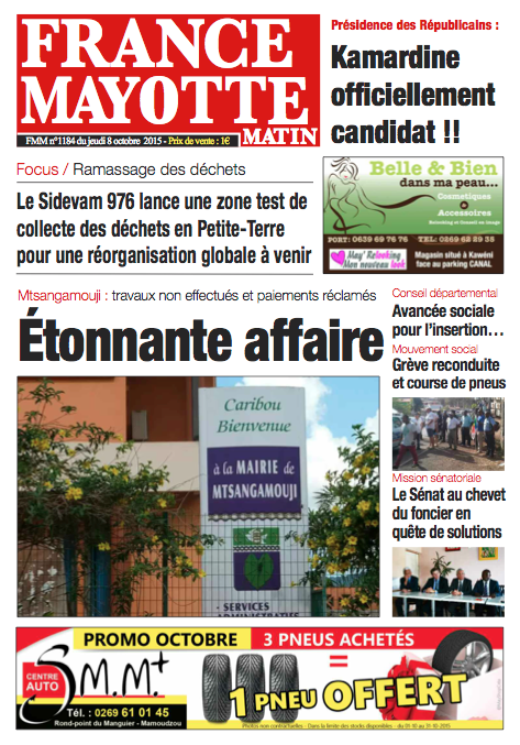 France Mayotte Jeudi 8 octobre 2015