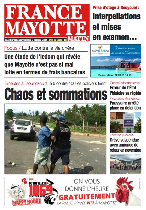 France Mayotte Vendredi 9 octobre 2015