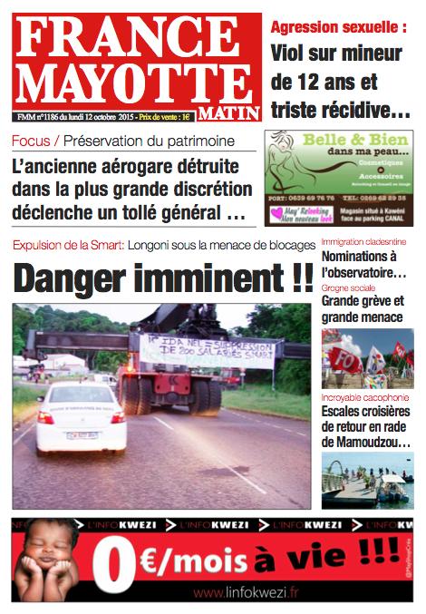 France Mayotte Lundi 12 octobre 2015