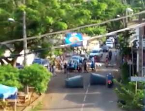 Vidéo du barrage à Mangajou
