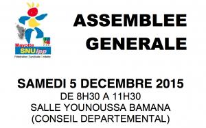 Assemblée générale du SNUipp Mayotte