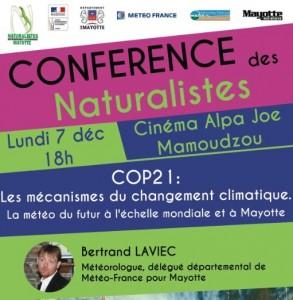 Objectif COP 21 : 3ème conférence des Naturalistes animée par Bertrand Laviec