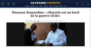 Interrogé par Le Figaro, Mansour Kamardine tire la sonnette d'alarme