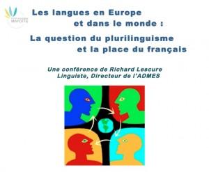 La question du plurilinguisme et la place du français : une conférence de Richard Lescure