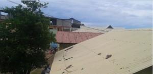 projectil sur toit