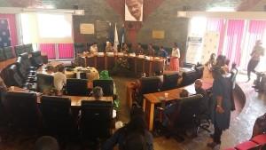 Présentation du projet Marraines en action au Conseil départemental