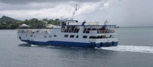 Liaisons de barges très perturbées