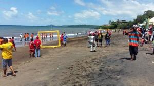 Colas, vainqueur du Beach Foot Entreprises 2016