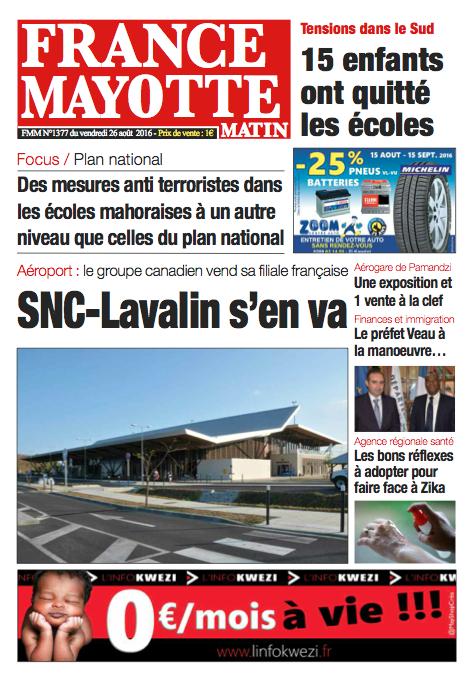 France Mayotte Vendredi 26 août 2016