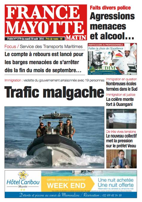 France Mayotte Mardi 30 août 2016