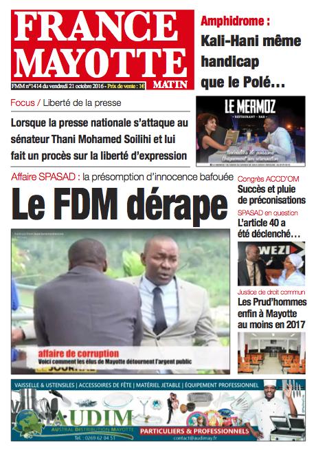 France Mayotte Vendredi 21 octobre 2016