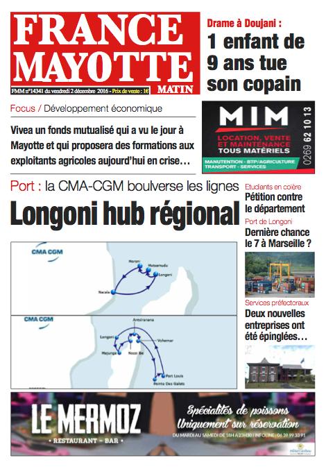 France Mayotte Vendredi 2 décembre 2016
