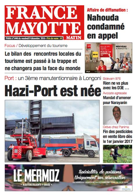 France Mayotte Vendredi 9 décembre 2016