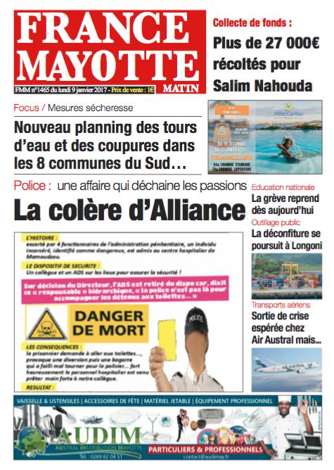 France Mayotte Lundi 9 janvier 2017