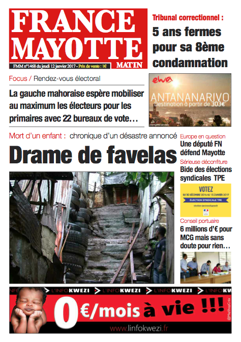 France Mayotte Jeudi 12 janvier 2017