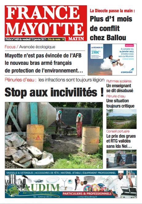 France Mayotte Vendredi 13 janvier 2016