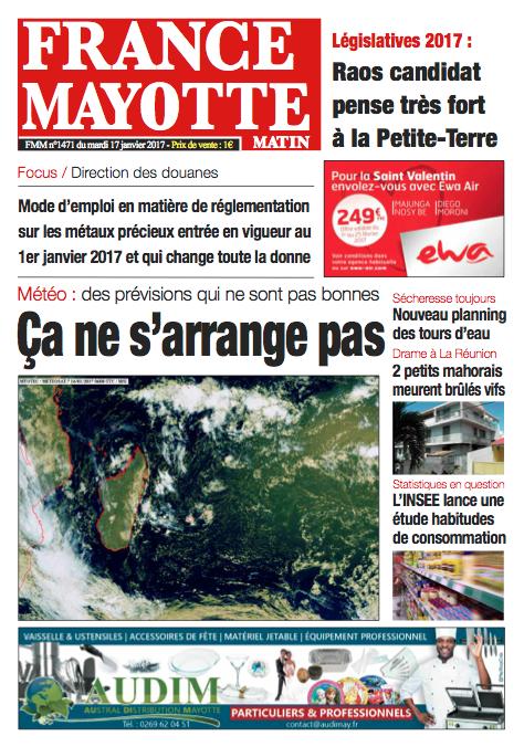 France Mayotte Mardi 17 janvier 2017