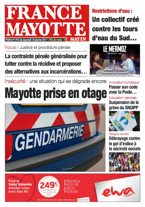 France Mayotte Mercredi 18 janvier 2017