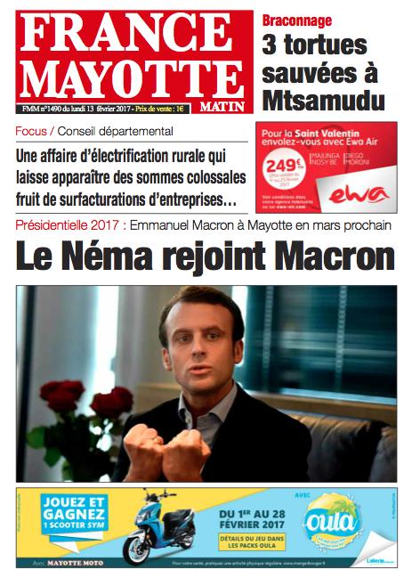 France Mayotte Lundi 13 février 2017
