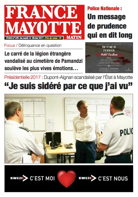 France Mayotte Mardi 14 février 2017