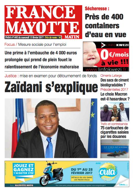 France Mayotte Mercredi 15 février 2017