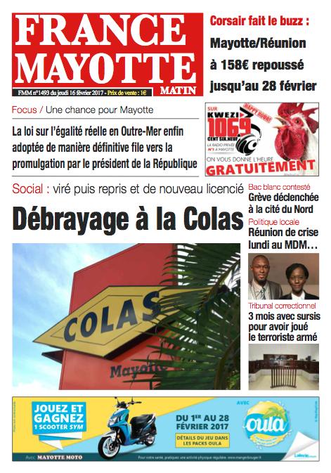 France Mayotte Jeudi 16 février 2017