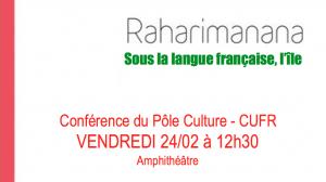 Conférence de Jean-Luc RAHARIMANANA au CUFR
