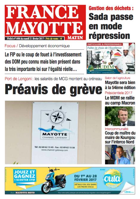 France Mayotte Mardi 21 février 2017