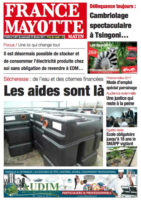 France Mayotte Mercredi 22 février 2017
