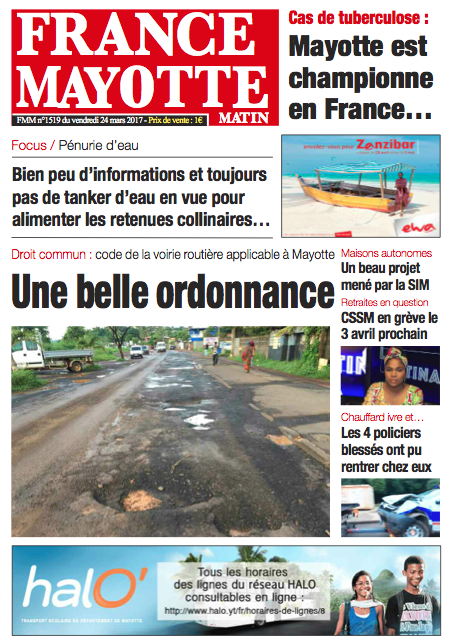 France Mayotte Vendredi 24 mars 2017