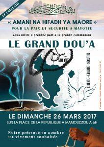 Grand Dou'a pour la Paix et la Sécurité de Mayotte ce dimanche