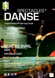 «Walé» et «Outoungou», deux spectacles de Hip Hop Evolution présentés ce samedi !