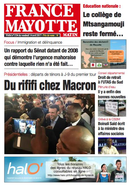 France Mayotte Vendredi 14 avril 2017