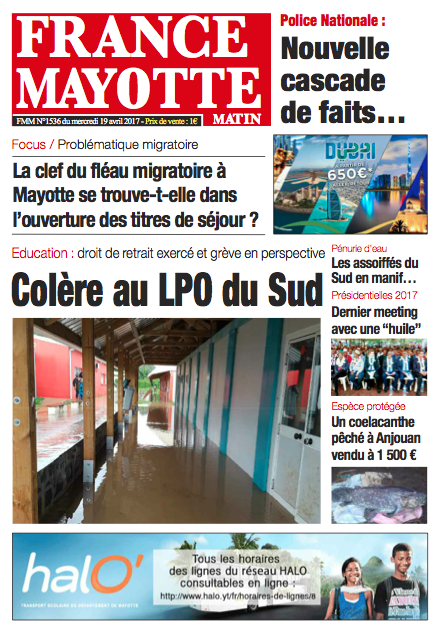 France Mayotte Mercredi 19 avril 2017