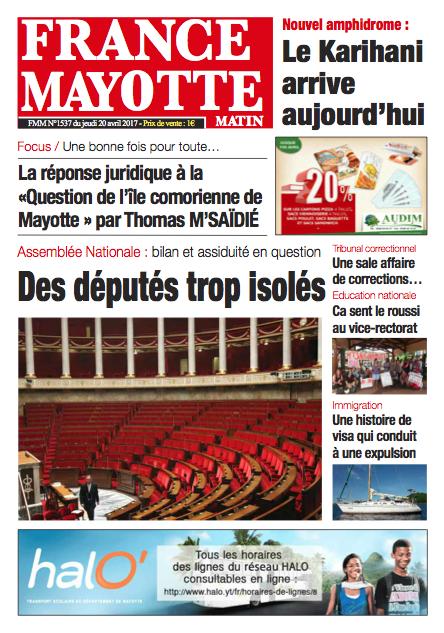 France Mayotte Jeudi 20 avril 2017