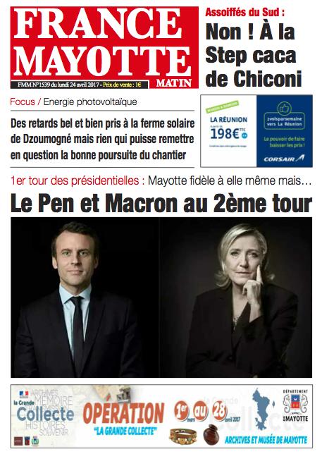 France Mayotte Lundi 24 avril 2017