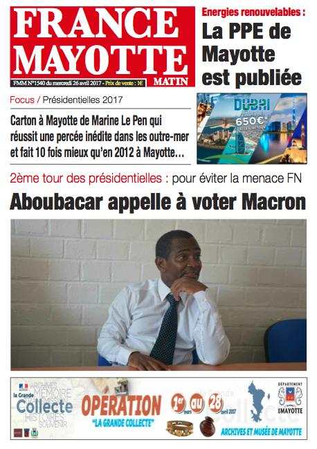 France Mayotte Mercredi 26 avril 2017