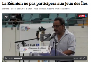 La Réunion ne participera pas aux Jeux des Îles 2019