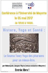 Flyers conférence de Mr Vieyra à l'université le 05.05.17
