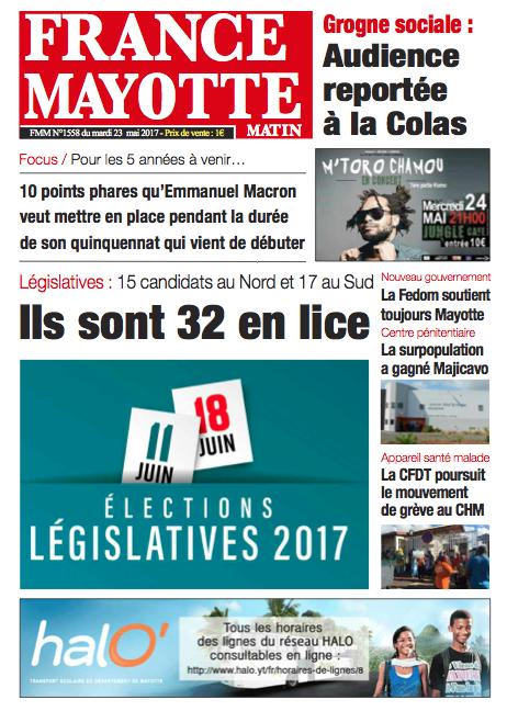 France Mayotte Mardi 23 mai 2017