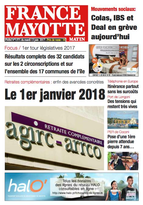 France Mayotte Mardi 13 juin 2017