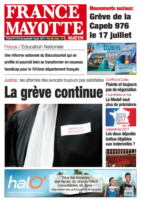 France Mayotte Mercredi 14 juin 2017