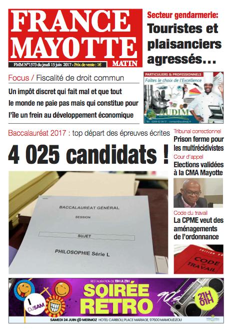 France Mayotte Jeudi 15 juin 2017