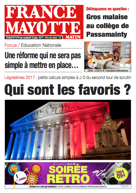 France Mayotte Vendredi 16 juin 2017