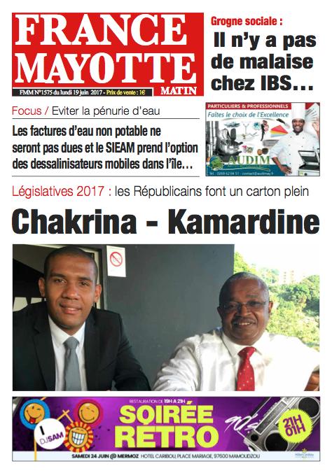 France Mayotte Lundi 19 juin 2017